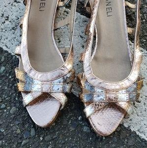 Vaneli Metallic Sling Sandals